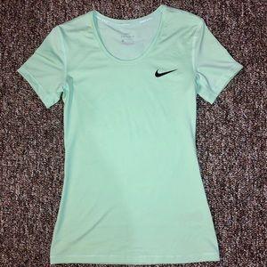 Nike Pro, Dri-fit, teal t-shirt